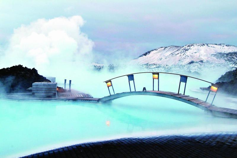 The Blue Lagoon Can Be Seen From A Distance Due To The Rising Steam Coming Off