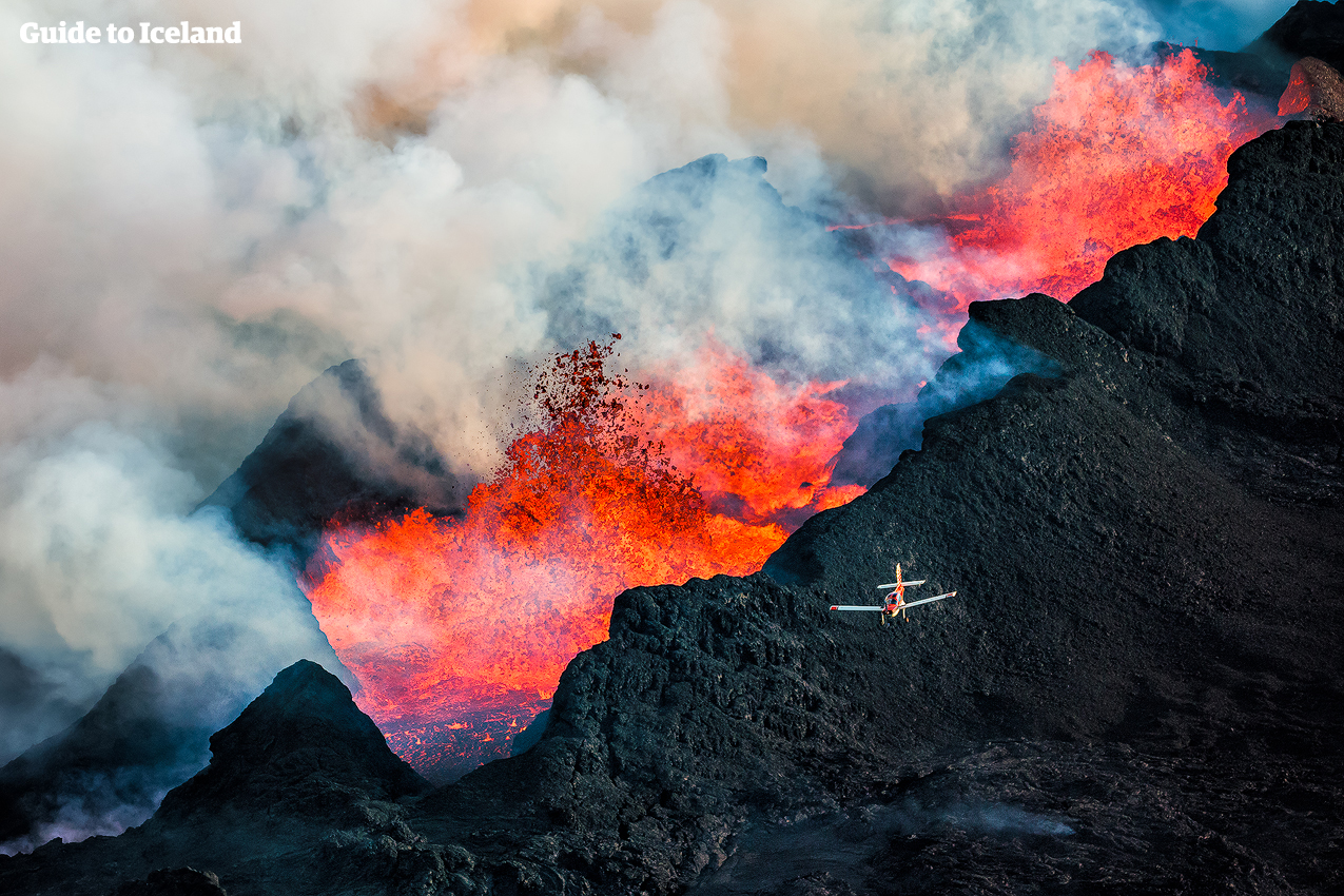 Eruption Volcanique Islande Avion