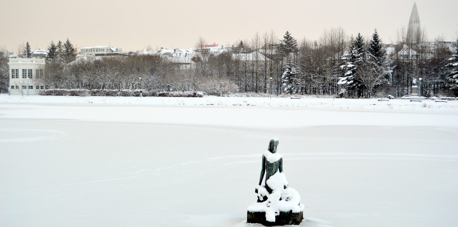 Beautiful White Snow in Reykjavík, Iceland\'s Capital City