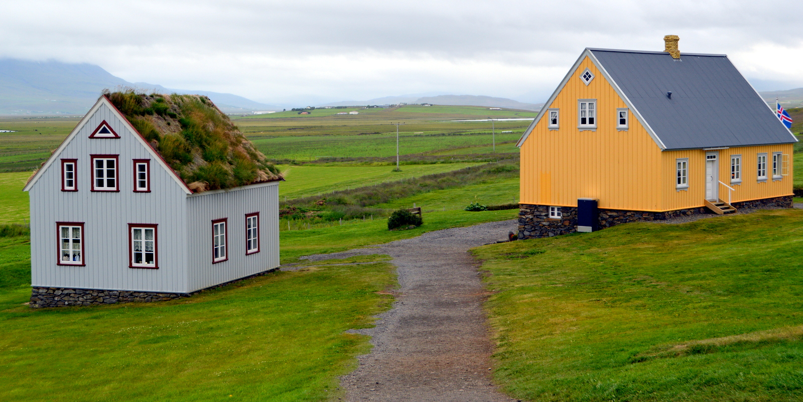 Glaumbaer In Skagafjorur In North Iceland on Icelandic Turf House