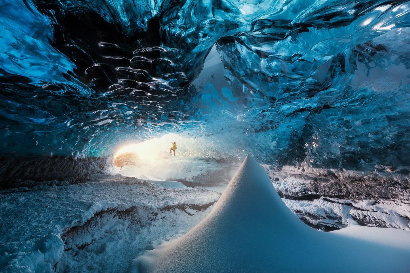 Ice Cave Inside Vatnajokull Glacier