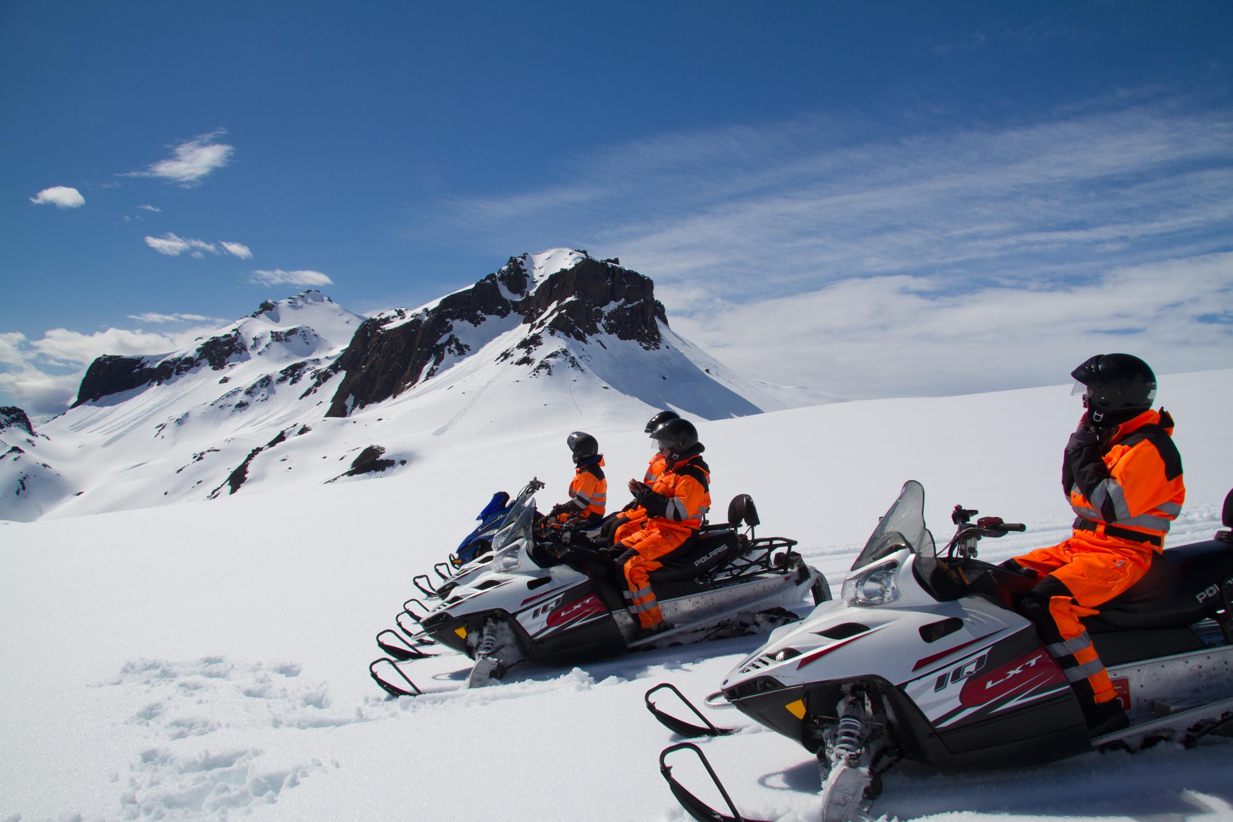 1 hour snowmobile tour on langjokull glacier from gullfoss waterfall