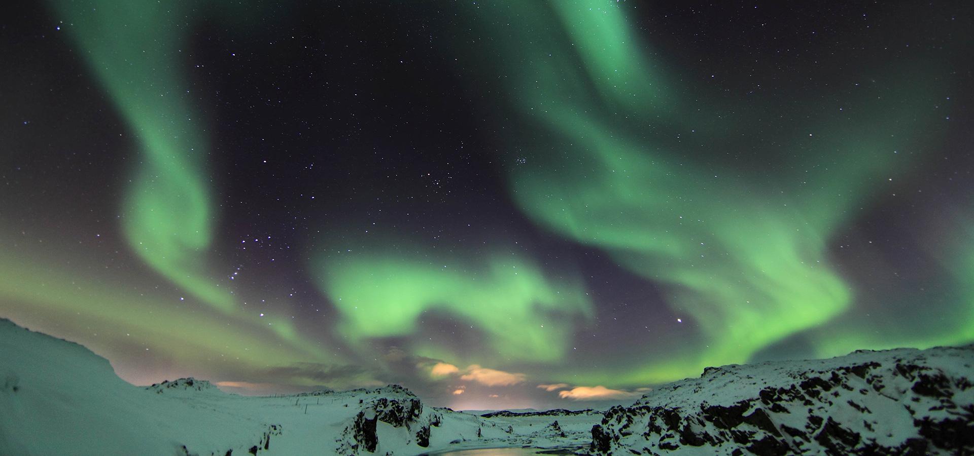 An Evening of Northern Lights at Laugarvatn Fontana