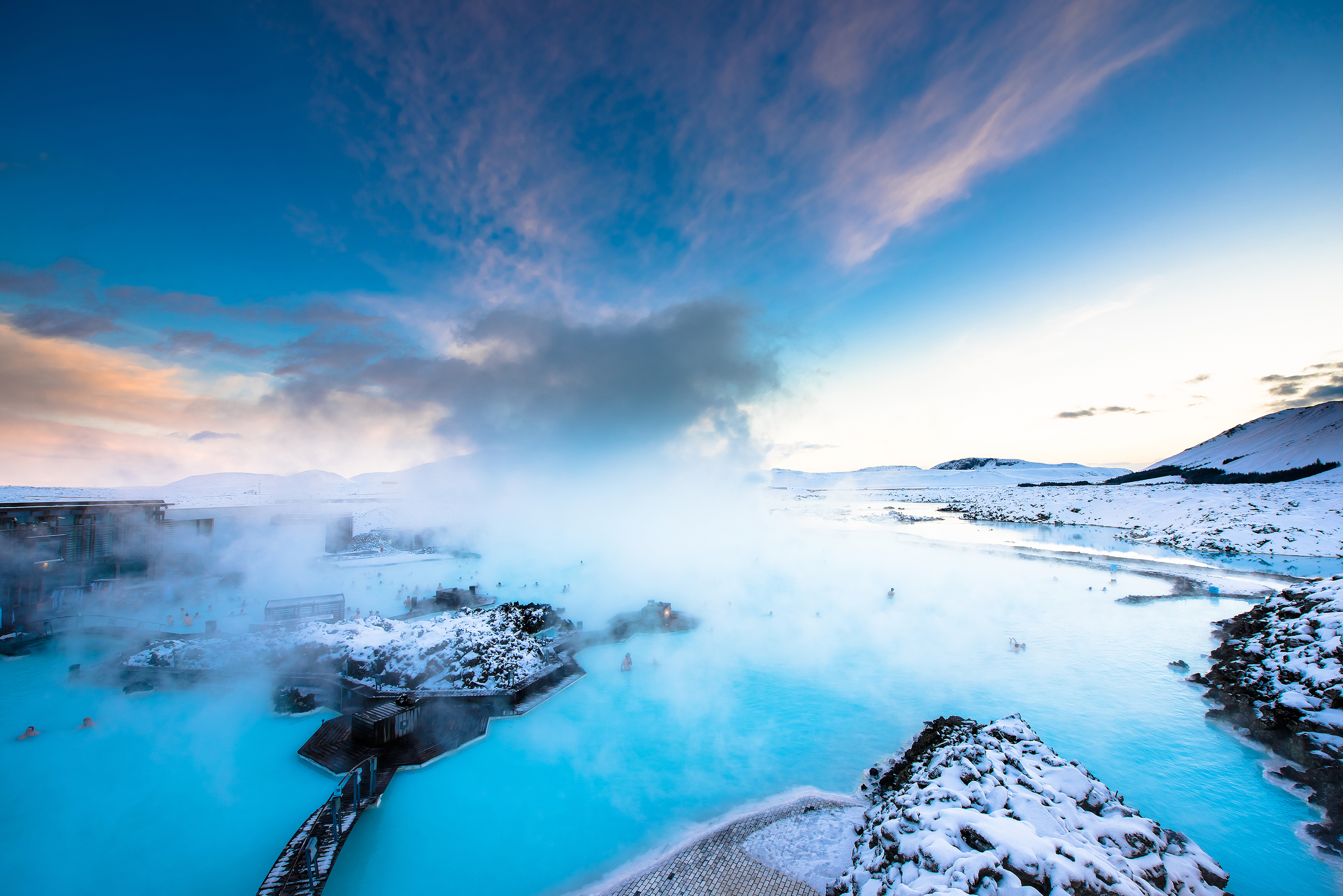 The Blue Lagoon Can Be Seen From Afar Thanks In Large Part Due To The White