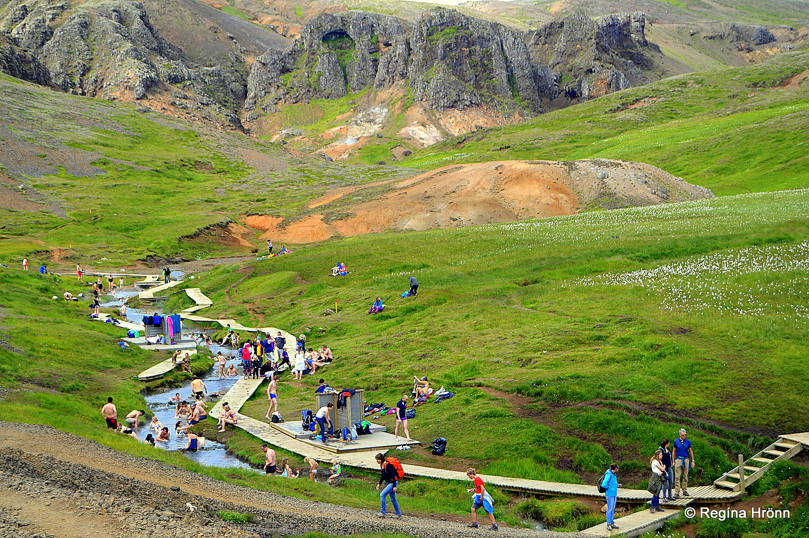 Reykjadalur Valley Bathe In A Hot River In South Iceland