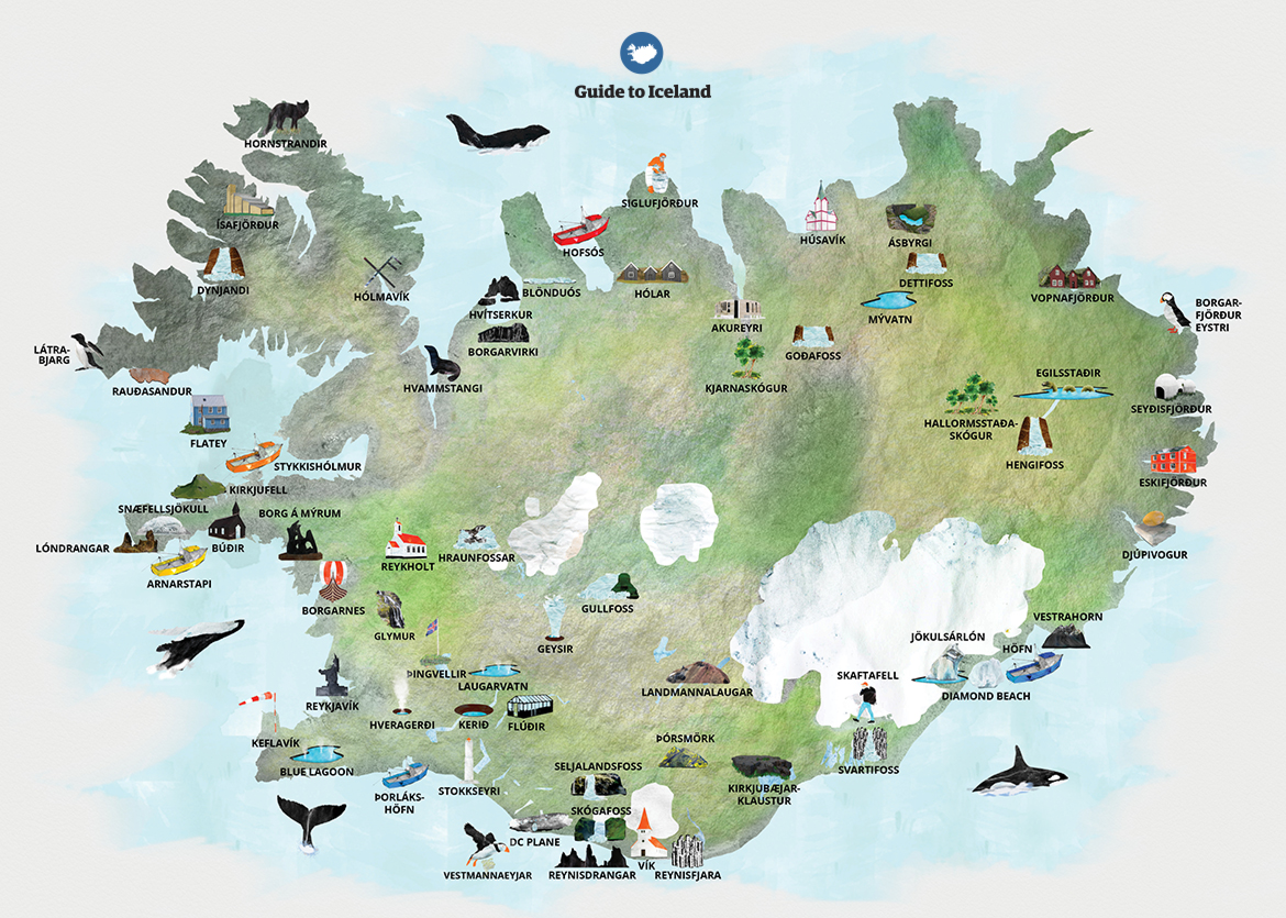Maps of iceland guide to iceland are you coming to iceland for the first time and wondering where all of the countrys best attractions are on the map do you want to know where reykjavks gumiabroncs Images