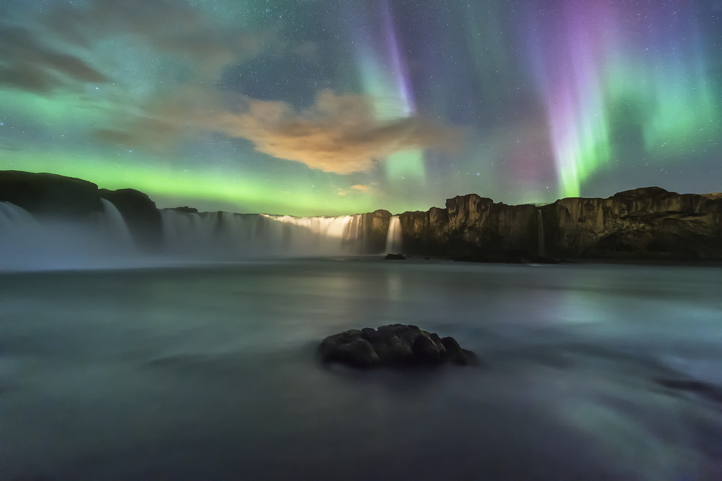Godafoss Waterfall And The Myvatn Admision To The Nature