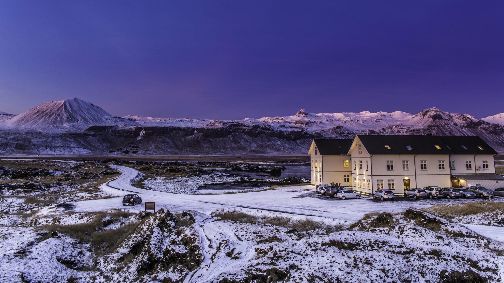Hotel Budir Búðir At Snæfellsnes Peninsula During Wintertime