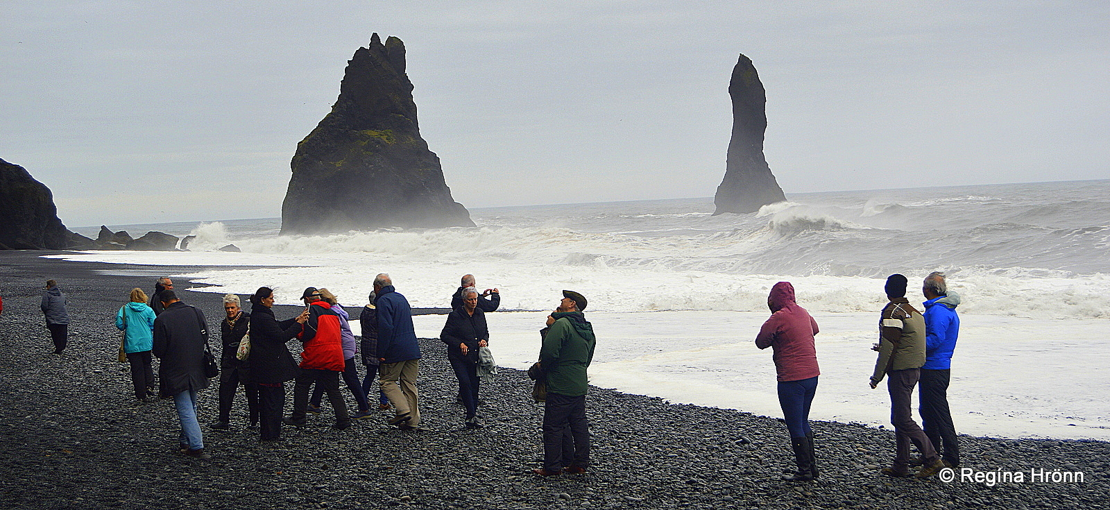 5fc54d74d In August 2013 there was a storm in Iceland and there were big scary waves  in Reynisfjara. Tourists were watching the waves