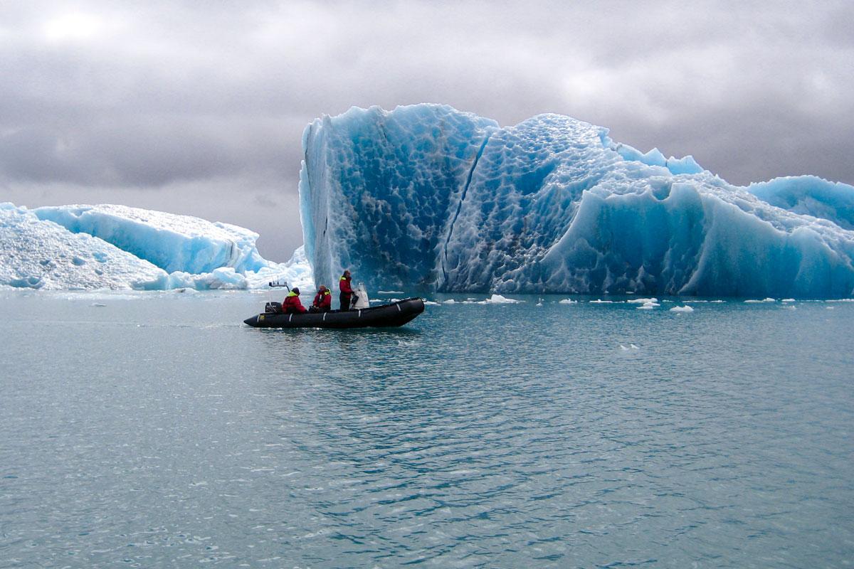 Zodiac Boat Tour On Jokulsarlon Glacier Lagoon Meet On Location